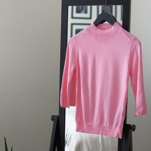 Pale Pink 3/4 Sleeve Sweater